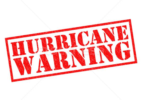 Hurrikán figyelmeztetés piros pecsét fehér természet Stock fotó © chrisdorney