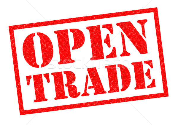 OPEN TRADE Stock photo © chrisdorney