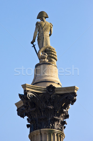 Admiral Nelson statue on Nelson's Column Stock photo © chrisdorney