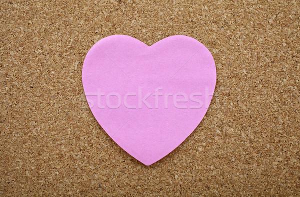 A Heart Sticky Label on a Notice Board Stock photo © chrisdorney