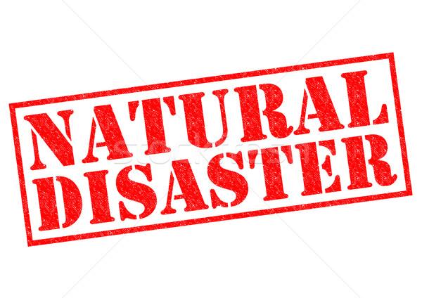 Naturales desastre rojo blanco naturaleza Foto stock © chrisdorney
