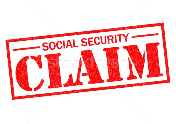 SOCIAL SECURITY CLAIM Stock photo © chrisdorney