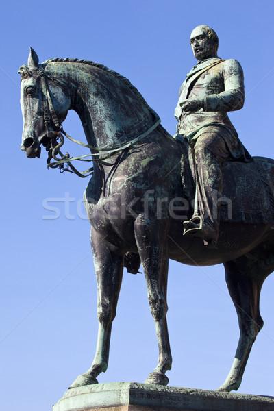 Príncipe estátua fora ouvir Liverpool cavalo Foto stock © chrisdorney