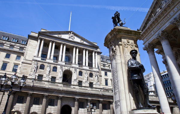 Bank of England, City of London War Memorial and the Royal Excha Stock photo © chrisdorney