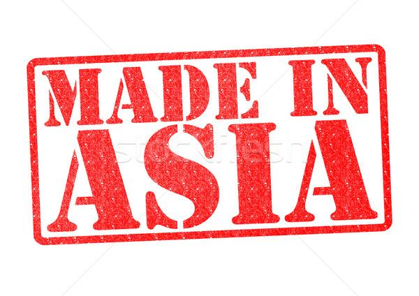 Asia biały czerwony asian chińczyk Zdjęcia stock © chrisdorney