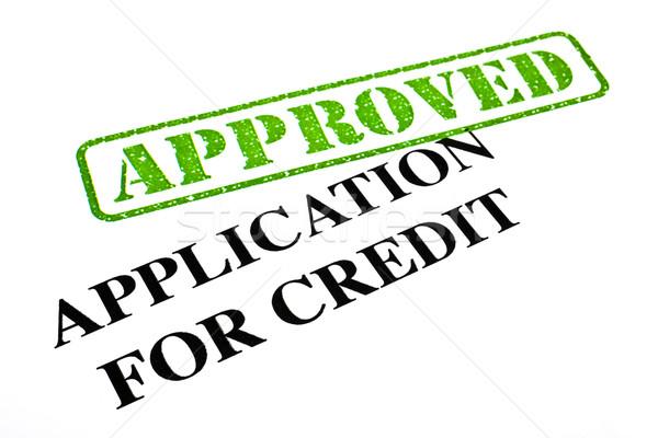 Aplicación crédito primer plano documento oficina Foto stock © chrisdorney