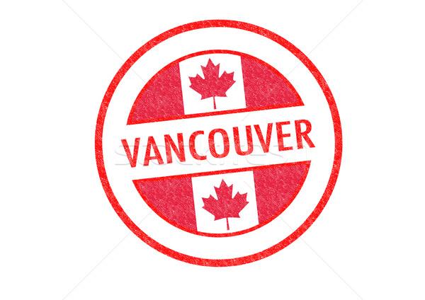Vancouver branco férias botão passaporte Foto stock © chrisdorney