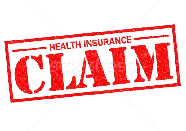 Zorgverzekering beweren Rood witte medische Stockfoto © chrisdorney