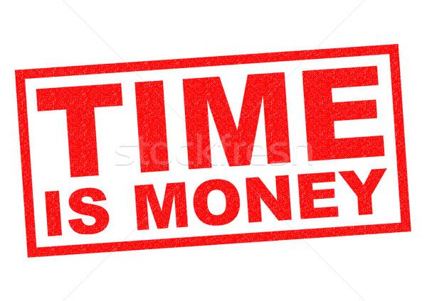 Tijd is geld Rood witte business werk Stockfoto © chrisdorney