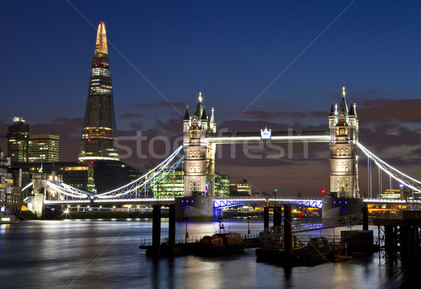 Ver Tower Bridge Londres magnífico rio Foto stock © chrisdorney