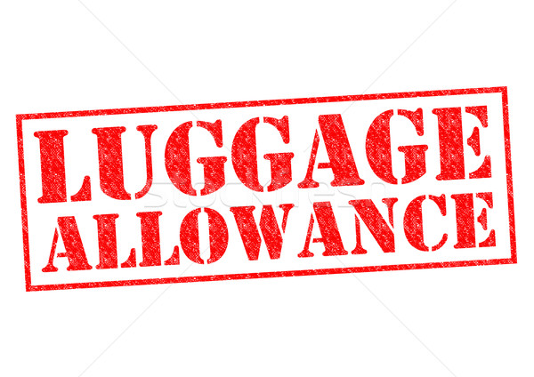 Stock photo: LUGGAGE ALLOWANCE