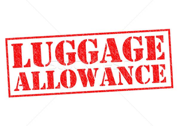 Bagage toelage Rood witte veiligheid Stockfoto © chrisdorney