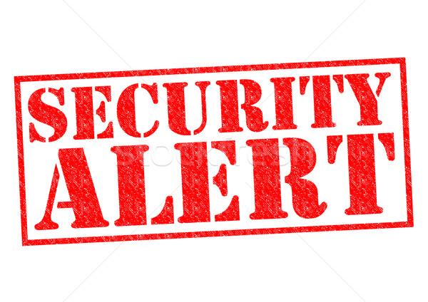 Güvenlik uyarmak kırmızı beyaz güvenlik Stok fotoğraf © chrisdorney