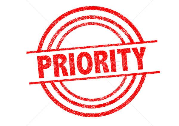 Prioritás pecsét fehér posta házhozszállítás gyors Stock fotó © chrisdorney