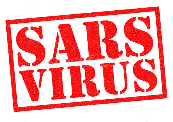 ストックフォト: ウイルス · 赤 · 白 · 健康 · 薬