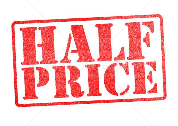 HALF PRICE Rubber Stamp Stock photo © chrisdorney