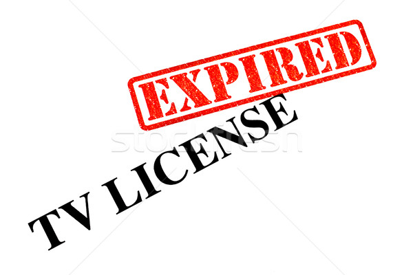 TV License EXPIRED Stock photo © chrisdorney