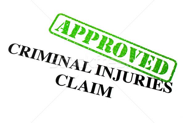 Elismert bűnöző sérülések követelés közelkép levél Stock fotó © chrisdorney