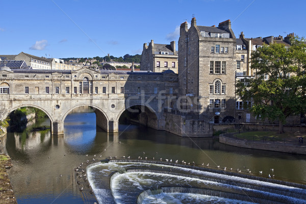 Pulteney Bridge and Weir in Bath Stock photo © chrisdorney