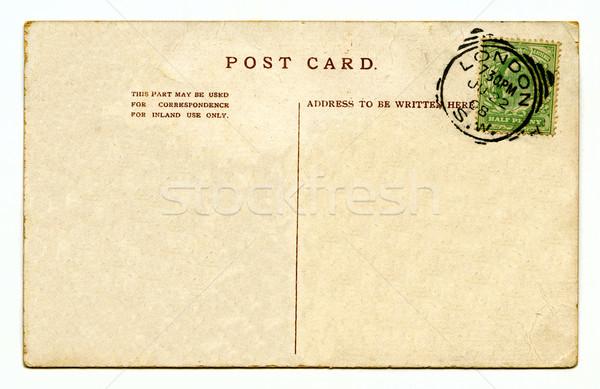 Vintage cartão postal textura viajar escrita carta Foto stock © chrisdorney