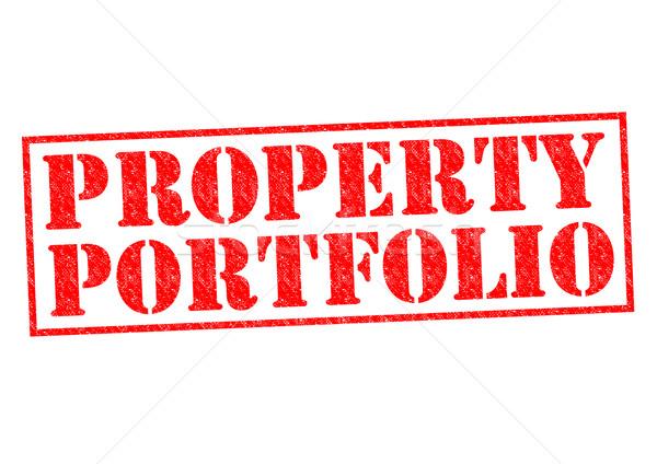 プロパティ ポートフォリオ 赤 白 ビジネス ストックフォト © chrisdorney