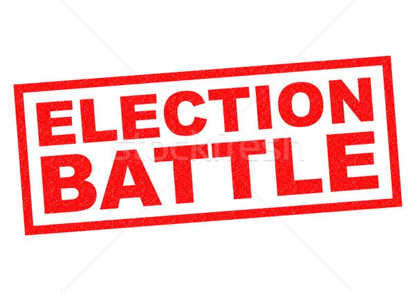 Stockfoto: Verkiezing · strijd · Rood · witte · strijd