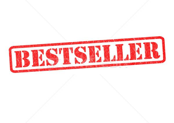 Bestseller branco negócio vermelho carimbo Foto stock © chrisdorney