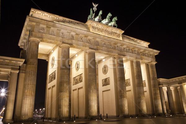 Brandenburger Tor Berlijn nacht architectuur mooie Stockfoto © chrisdorney