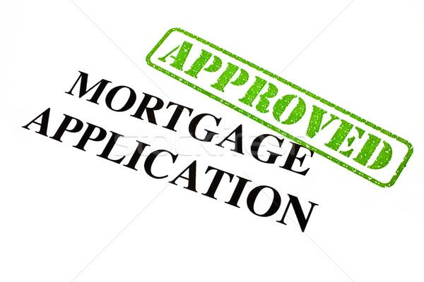 Mortgage Application APPROVED Stock photo © chrisdorney