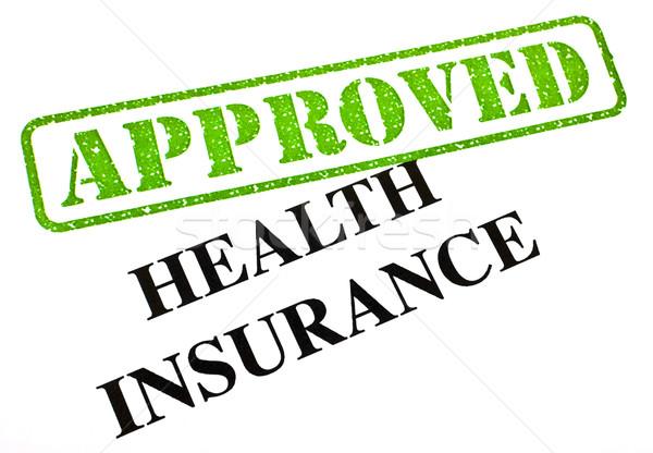 Seguro de saúde aprovado documento médico saúde Foto stock © chrisdorney