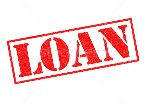 Empréstimo vermelho branco ajudar financeiro Foto stock © chrisdorney