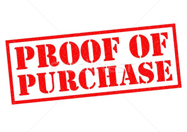 Prova comprar vermelho branco compras Foto stock © chrisdorney