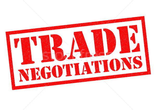 échanges négociations rouge blanche libre Photo stock © chrisdorney