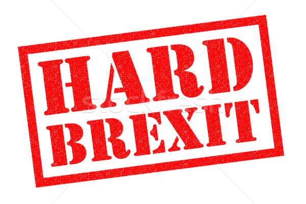HARD BREXIT Rubber Stamp Stock photo © chrisdorney