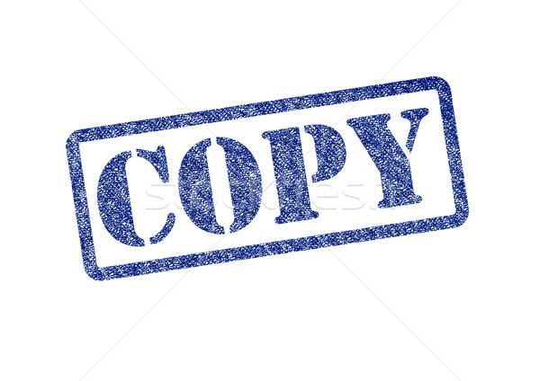 Kopieren blau weiß Business Arbeit Stock foto © chrisdorney