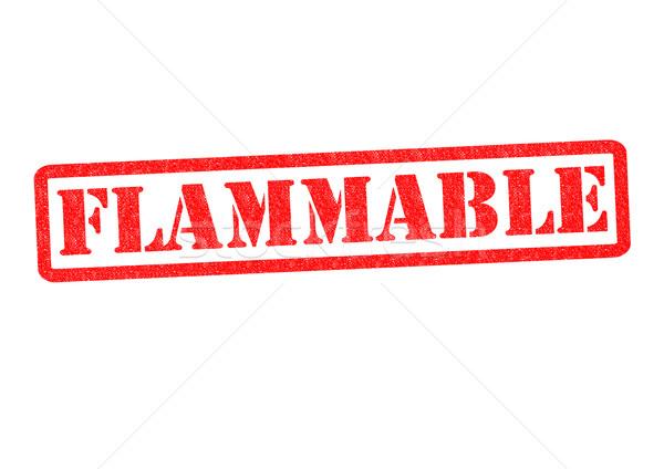 FLAMMABLE Stock photo © chrisdorney