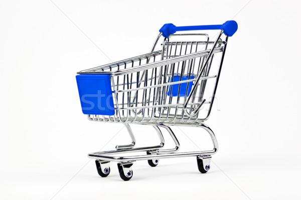 Compras azul supermercado blanco cesta Foto stock © chrisdorney