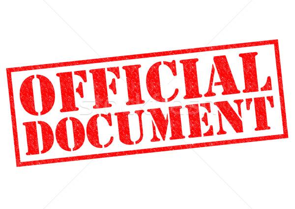 Officieel document Rood witte business Stockfoto © chrisdorney