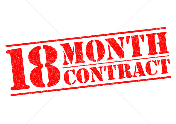 18 MONTH CONTRACT Stock photo © chrisdorney