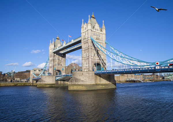 Tower Bridge Londres belo arquitetura blue sky cidade Foto stock © chrisdorney
