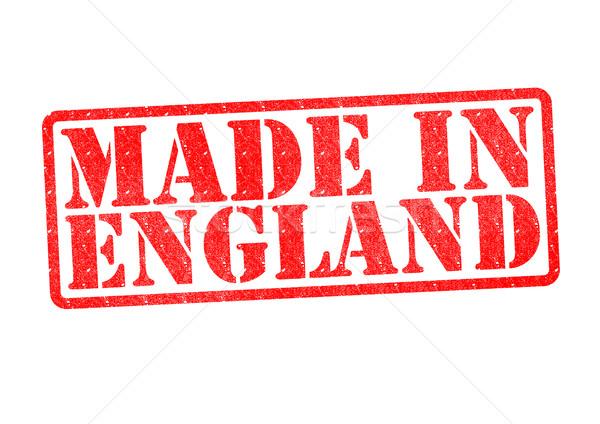 Inglaterra branco vermelho construir borracha Foto stock © chrisdorney