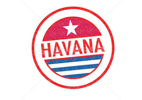 ハバナ キューバ 白 休暇 ボタン ストックフォト © chrisdorney