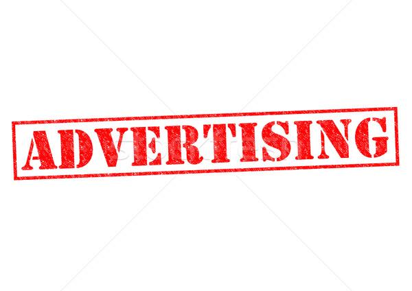 Publicidad rojo blanco negocios compras Foto stock © chrisdorney