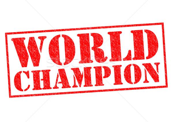 Monde champion rouge blanche sport Photo stock © chrisdorney