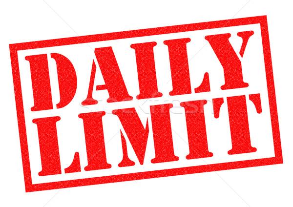 Minden nap korlát piros pecsét fehér internet Stock fotó © chrisdorney