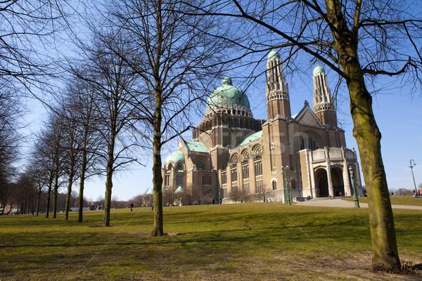 Photo stock: Basilique · sacré · coeur · Bruxelles · arbre · bâtiment
