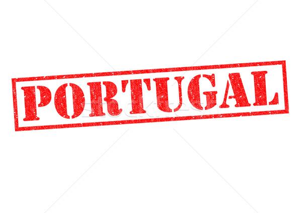 Portugal witte vakantie knop label Stockfoto © chrisdorney