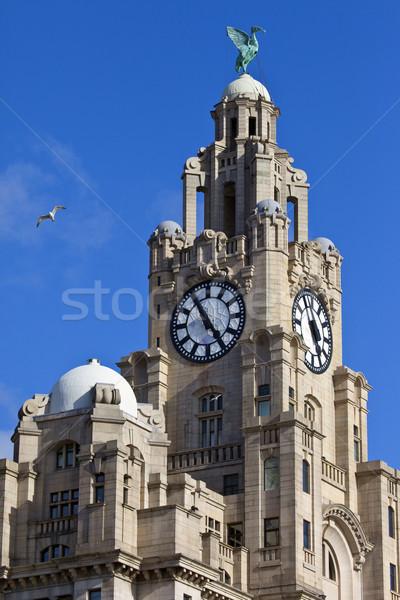 Real fígado edifício Liverpool histórico inglaterra Foto stock © chrisdorney
