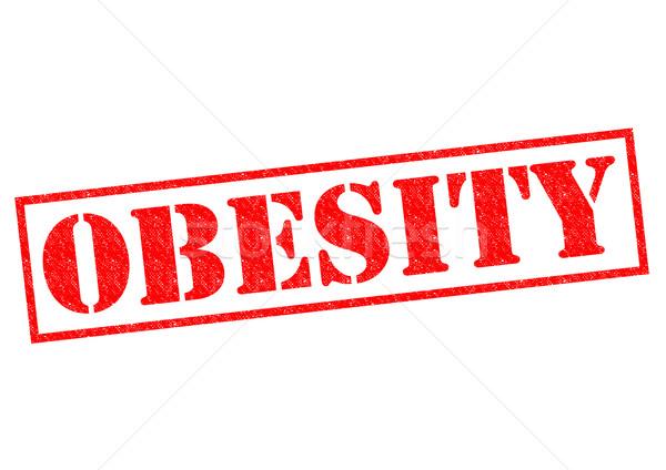 Fettleibigkeit rot weiß Essen medizinischen Stock foto © chrisdorney