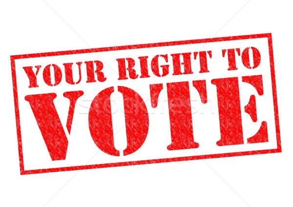 YOUR RIGHT TO VOTE Stock photo © chrisdorney
